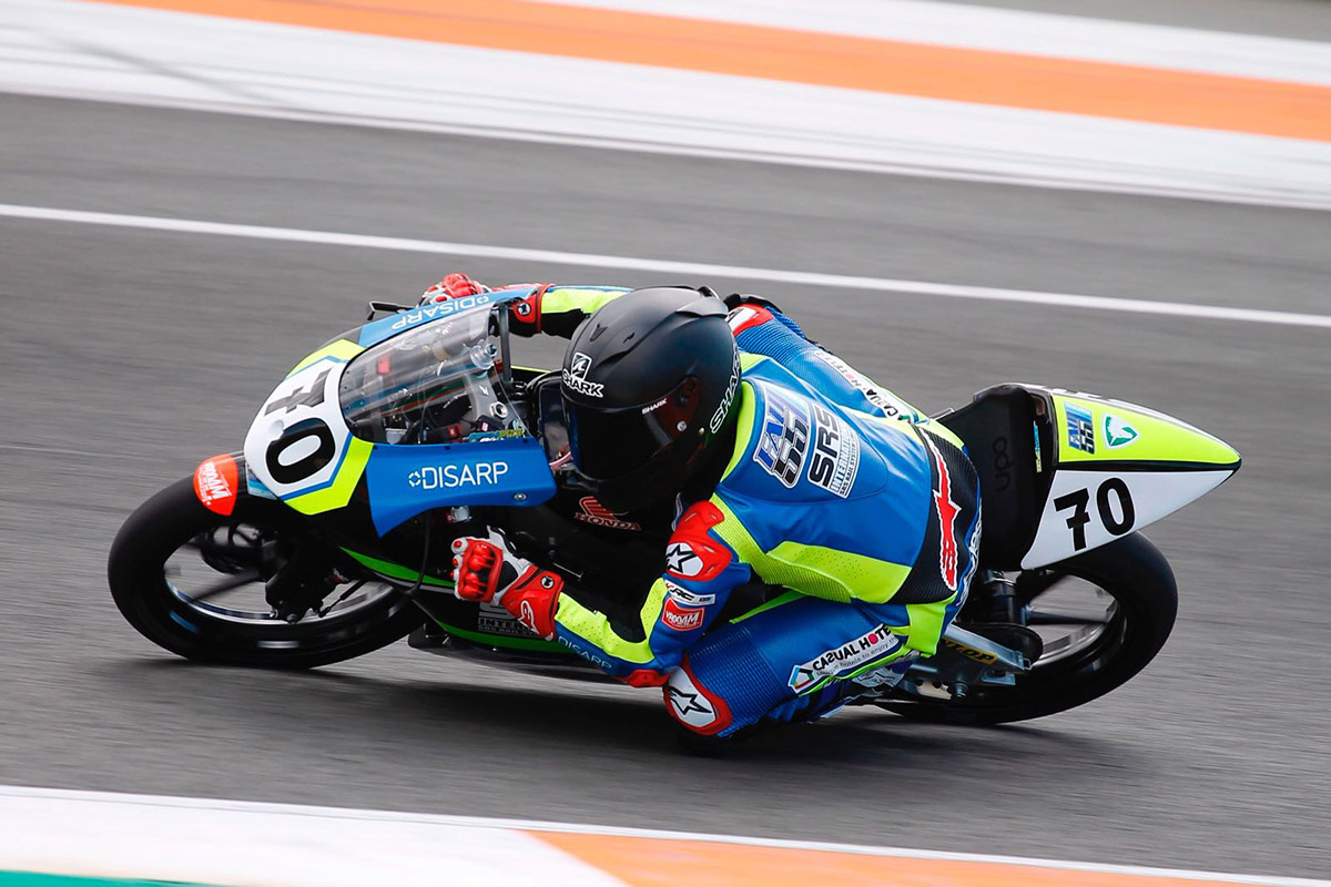 josh inside the top ten at valencia in fim cev repsol